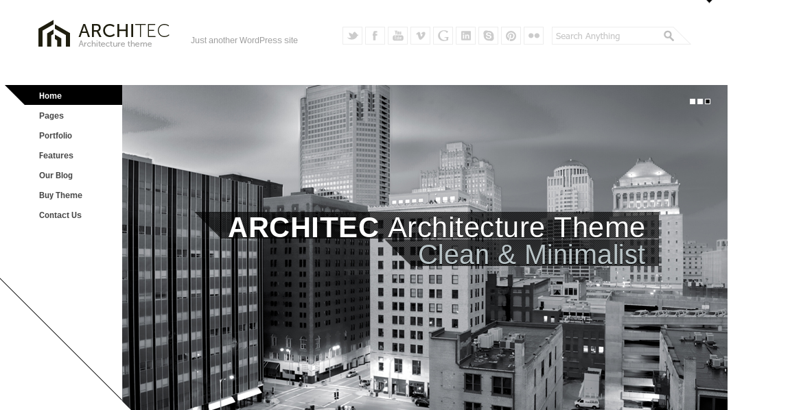 The 10 best wordpress themes for architects for Architecture wordpress