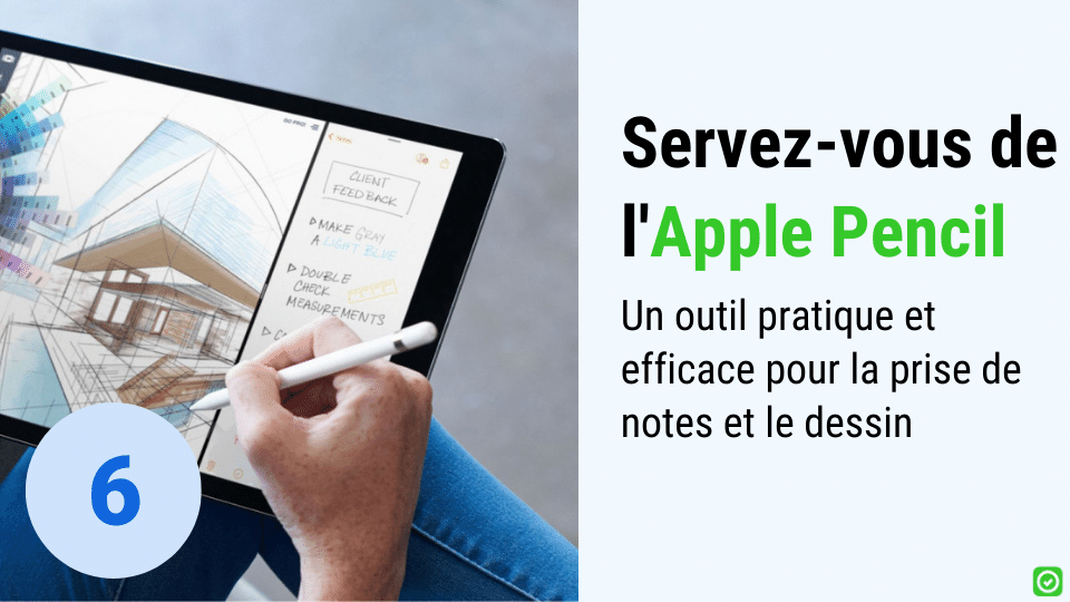 Servez-vous de l'Apple Pencil