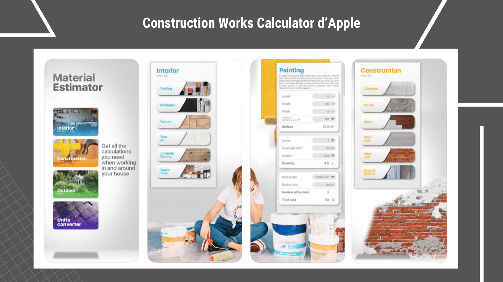 17 Applications de Construction Gratuites - Outils sur votre smartphone | Construction Works Calculator via ArchiSnapper