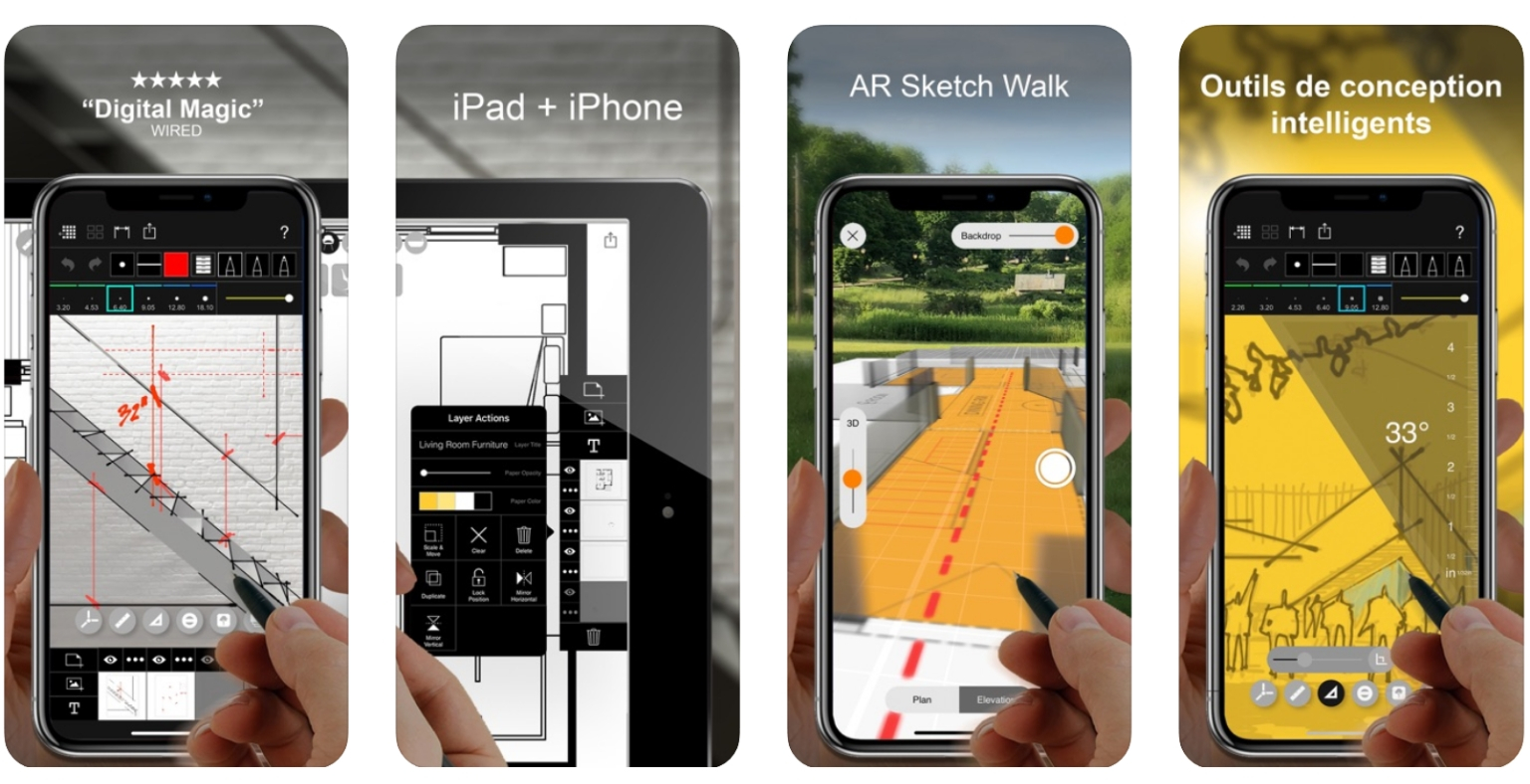 Meilleures applications pour Architectes - morpholio trace