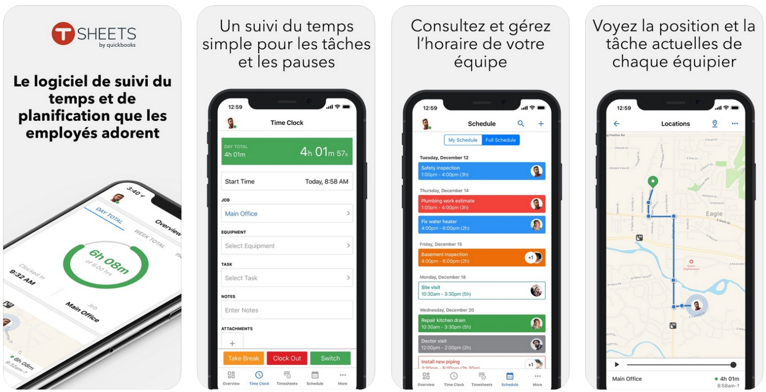 Meilleures applications pour Architectes - tsheets