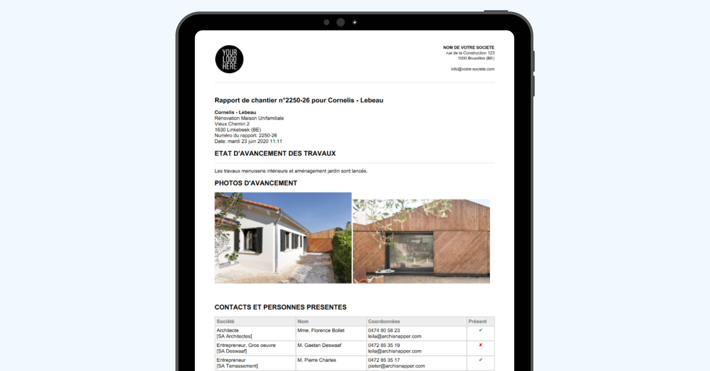 Générez des rapports de chantier instantanés avec ArchiSnapper