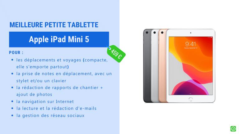 apple ipad mini 5- Tablettes le meilleur choix pour les architectes et entrepreneurs