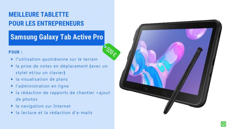 samsung galaxy tab active pro - Tablettes : le meilleur choix pour les architectes et entrepreneurs