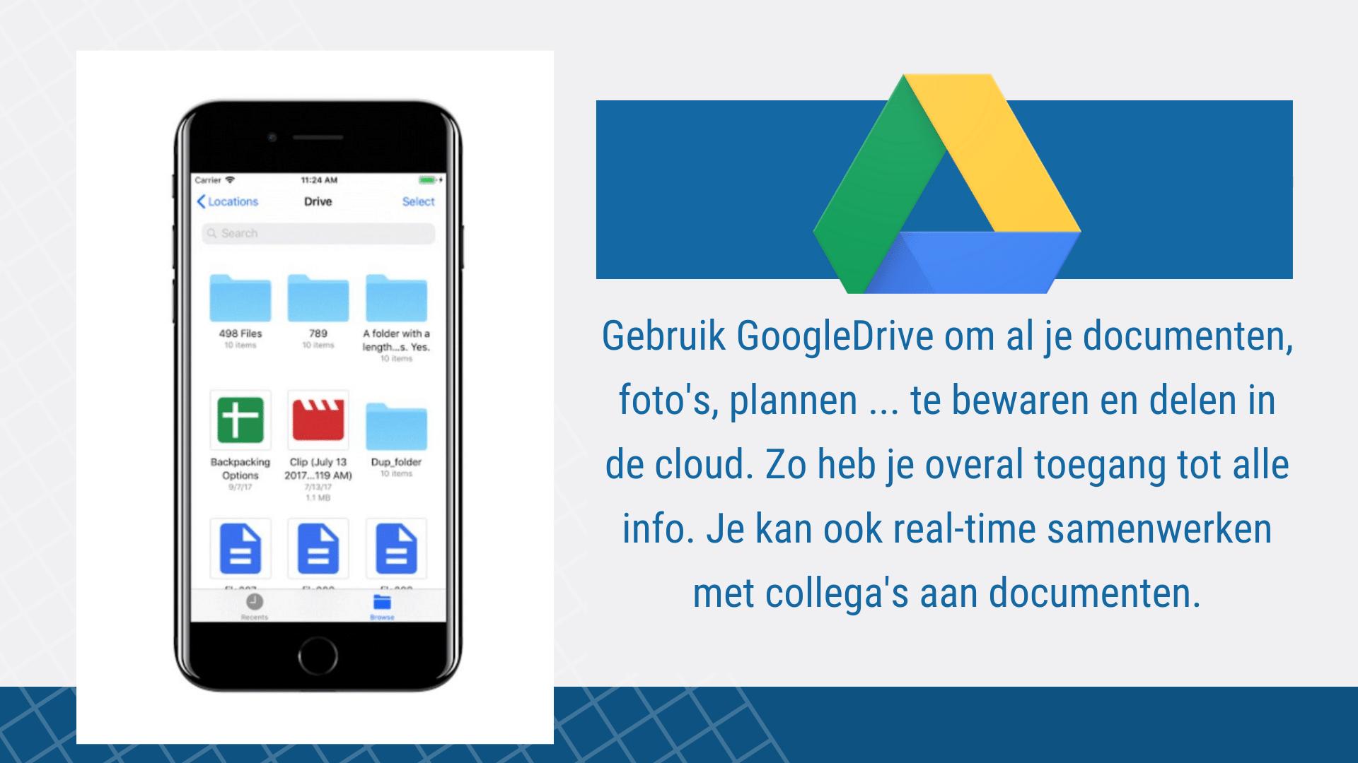 17 Eenvoudige Gratis Apps voor de Bouw - GoogleDrive | ArchiSnapper
