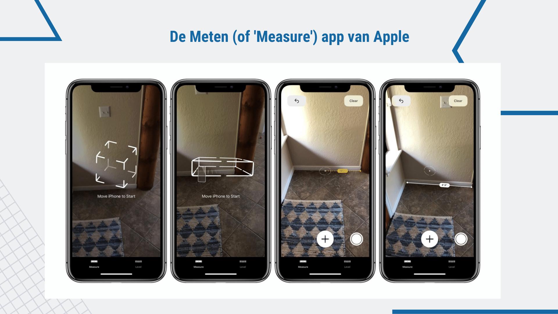 17 Eenvoudige Gratis Apps voor de Bouw - iOS Measure app| ArchiSnapper
