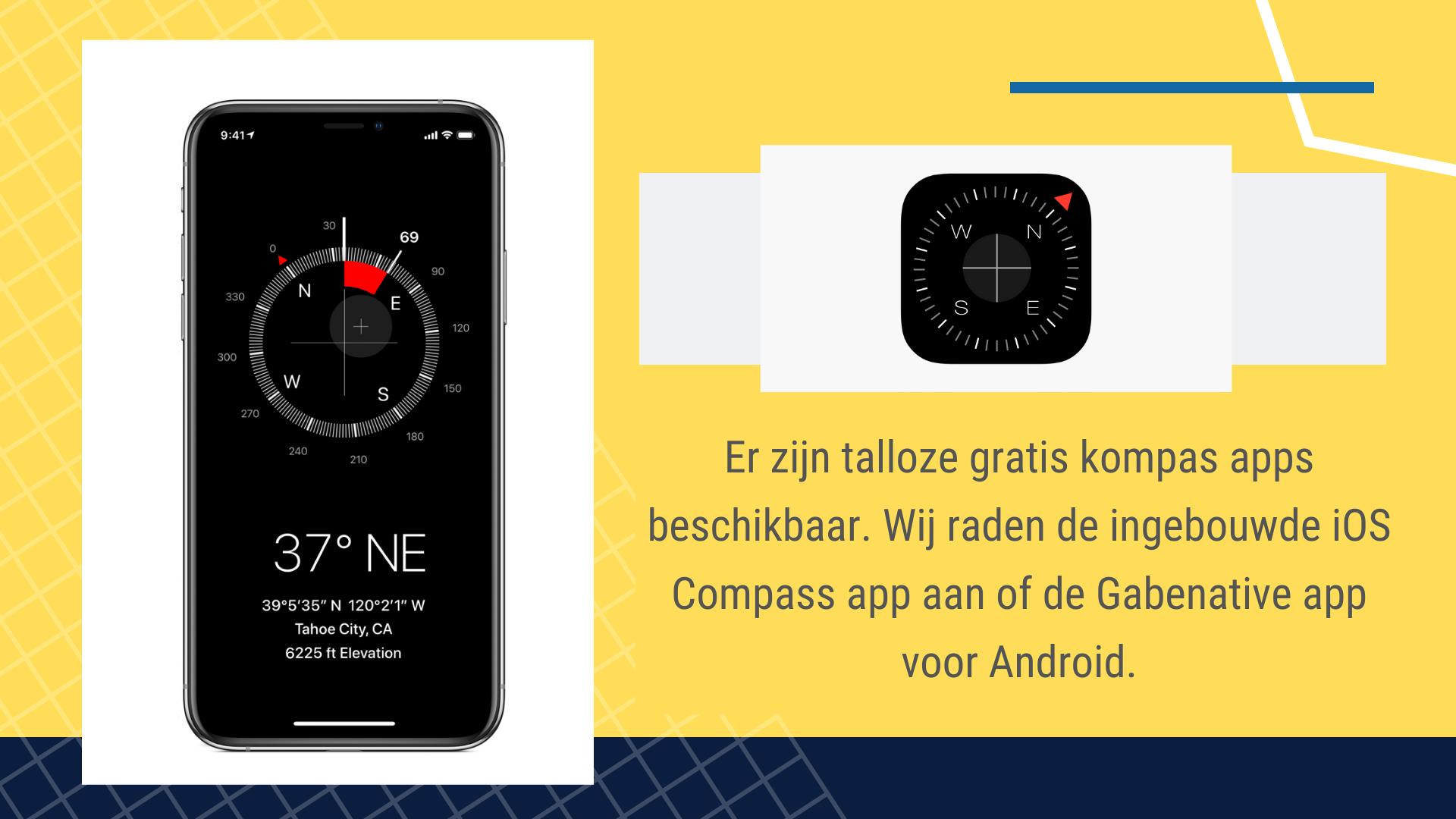 17 Eenvoudige Gratis Apps voor de Bouw - Kompas app | ArchiSnapper