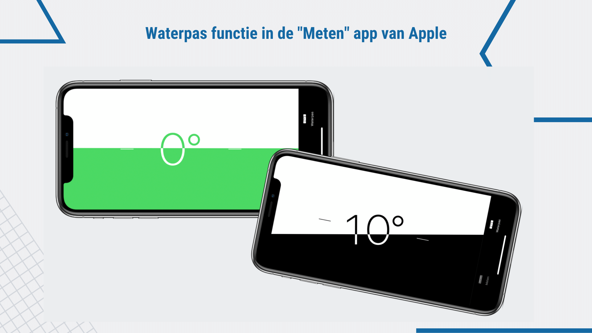 Waterpas functie in Apple Meten app | ArchiSnapper
