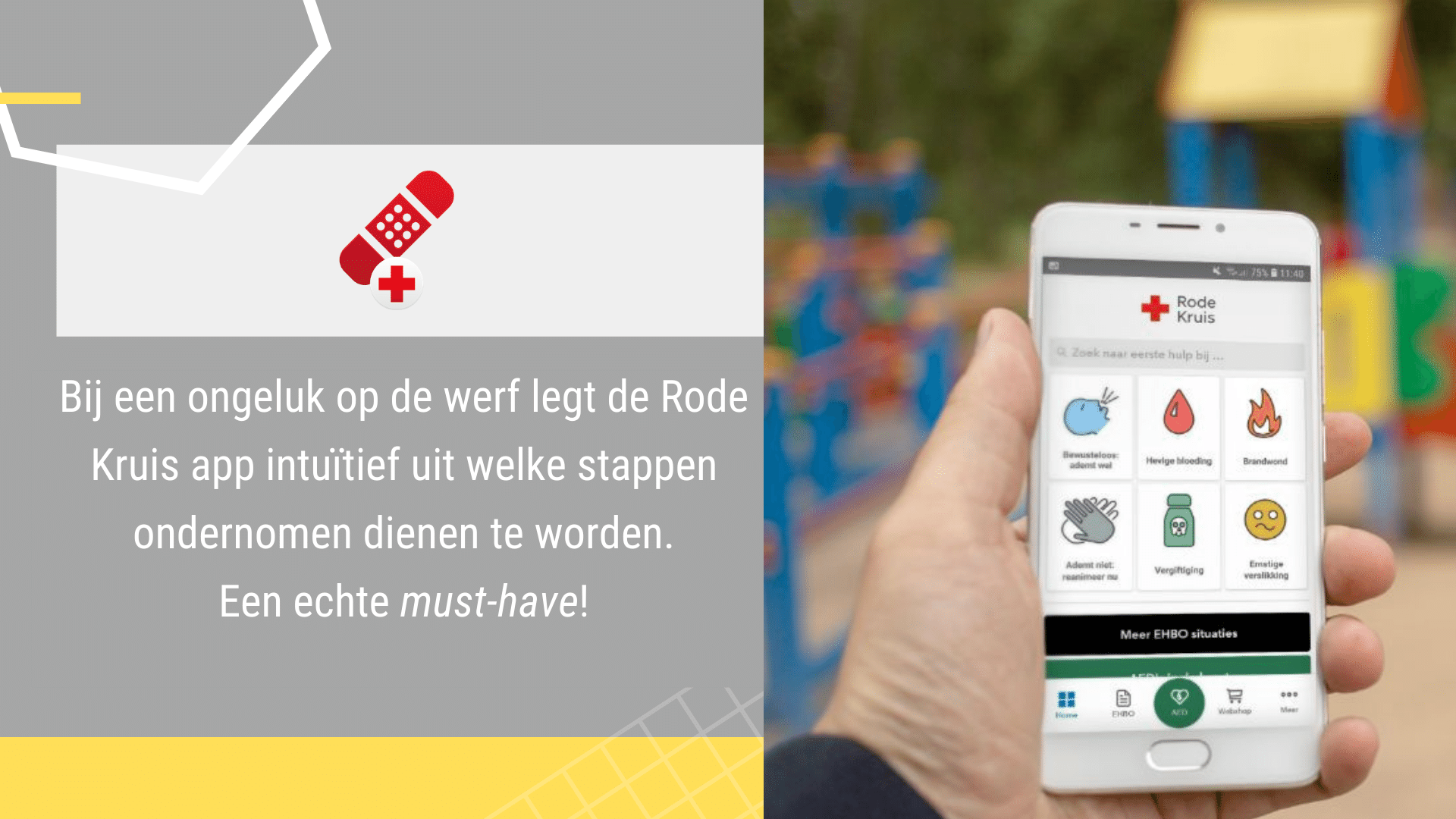 17 Eenvoudige Gratis Apps voor de Bouw - Rode Kruis App | ArchiSnapper