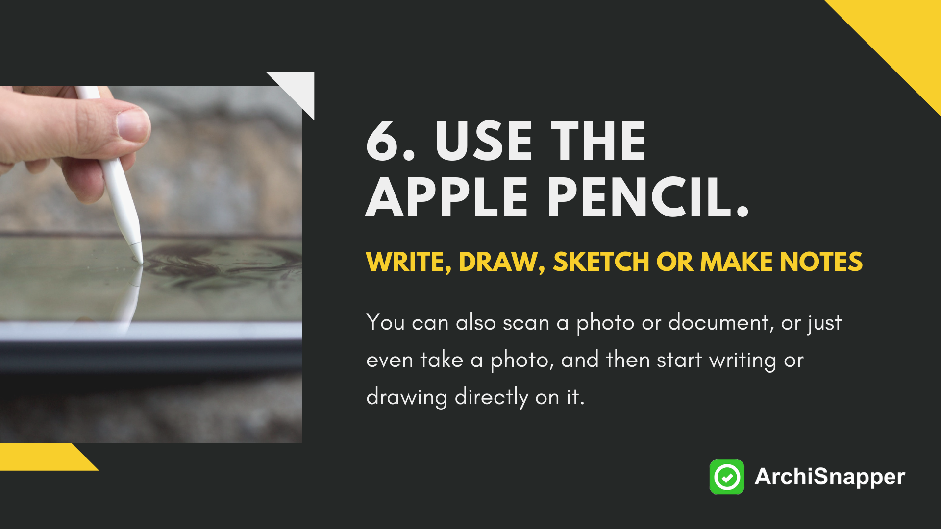 use the apple pencil via archisnapper