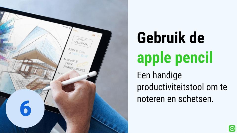apple pencil de ideale tool voor in de bouw om te werken met je ipad