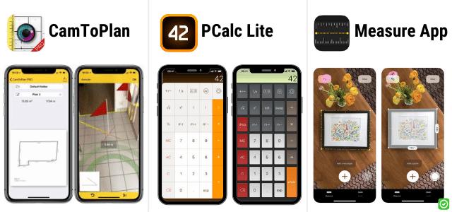 camtoplan pcalc lite measure app - iphone ipad app voor architecten aannemers ingenieurs