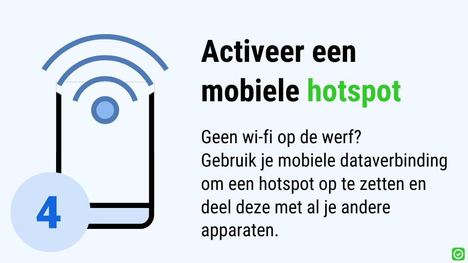 digitale werf - gebruik een hotspot om je iPad te verbinden met het internet