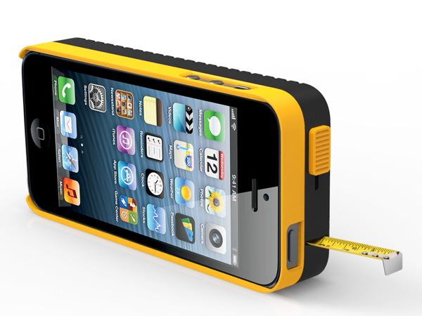 iphone case met ingebouwd meetlint