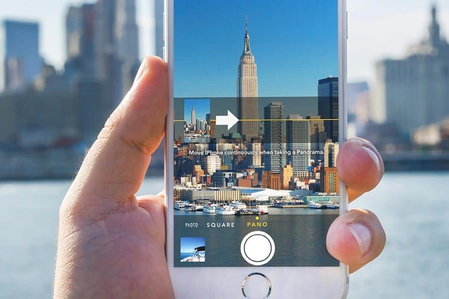 neem een panoramische foto van je bouwproject