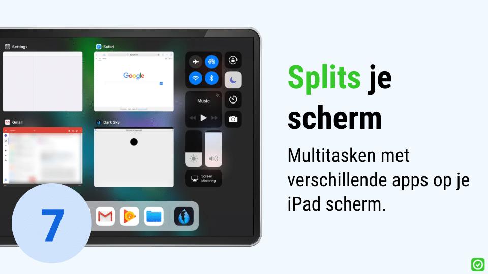 productiviteit op de werf - iPad split screen om te multitasken