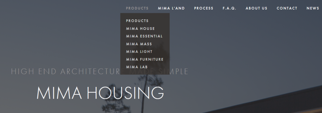 MIMA Housing producten | ArchiSnapper