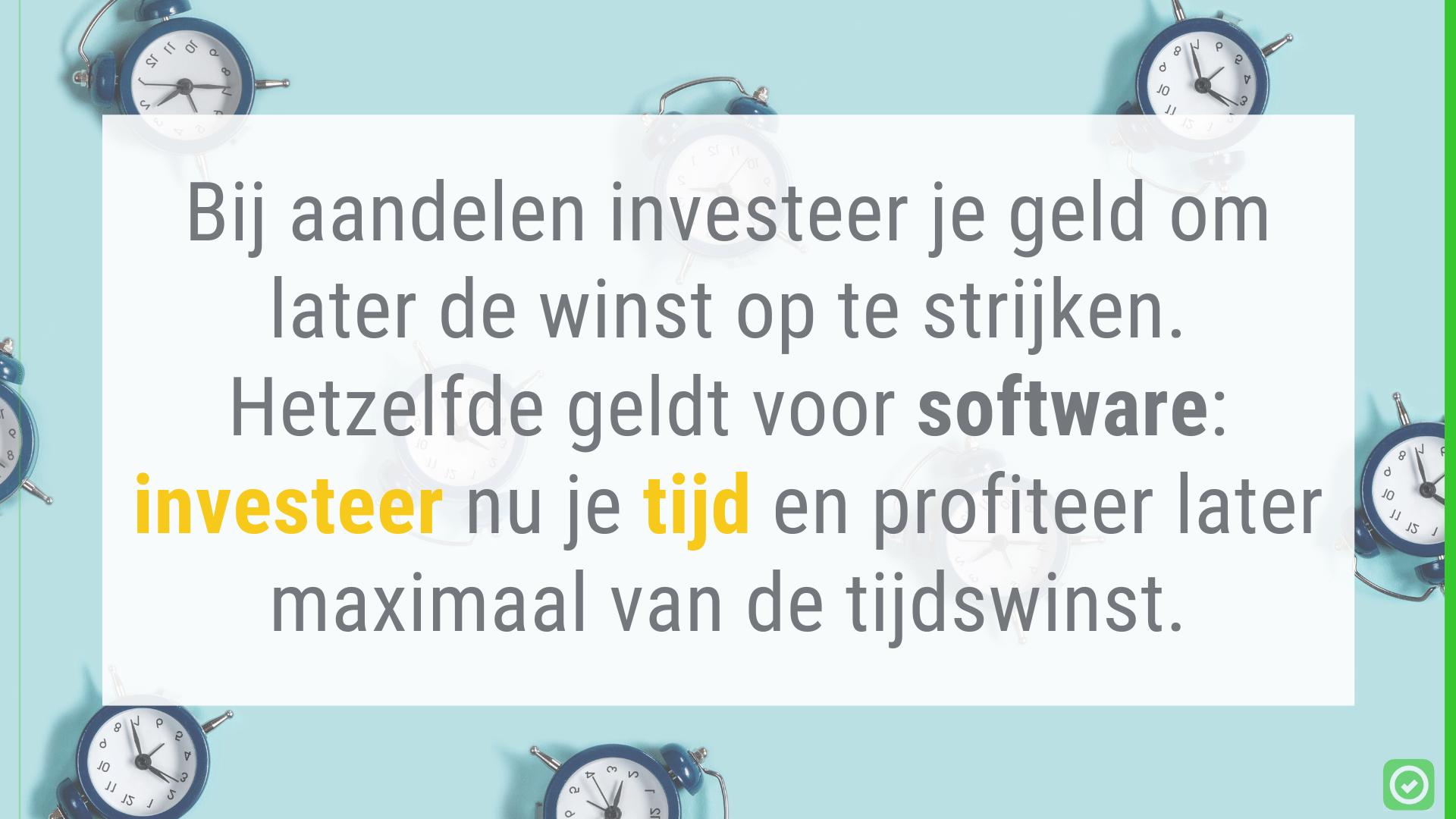 Investeer tijd in software en verdien het later terug | ArchiSnapper