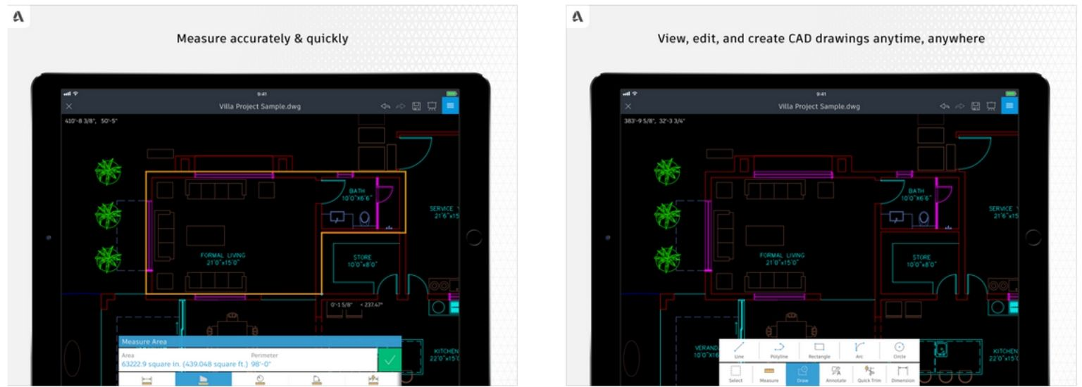 Autocad Mobile - iPad screenshot | ArchiSnapper Blog