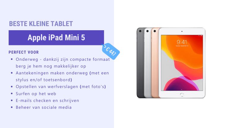 beste mini tablet voor de bouw - iPad Mini 5