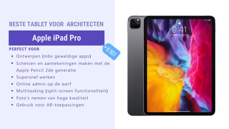 beste tablet voor architecten - iPad Pro