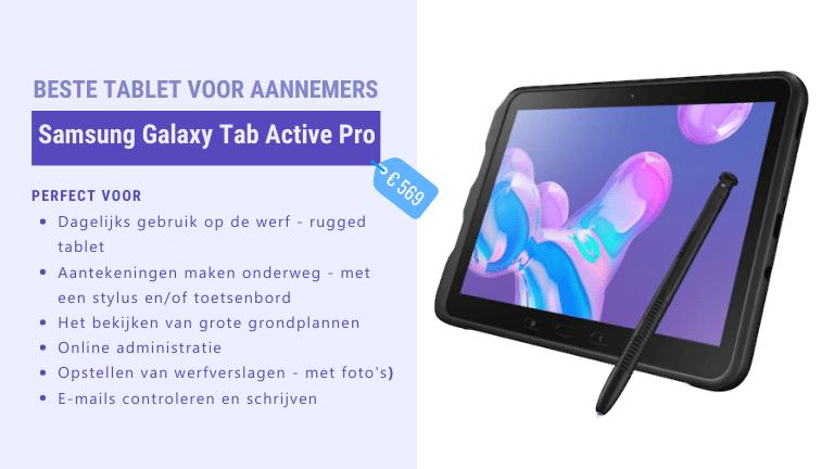 beste tablet voor aannemers - Samsung Tab Active Pro