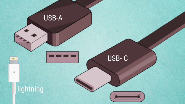 usb-c usb-a en lightning kabels om je tablet op te laden | ArchiSnapper Blog