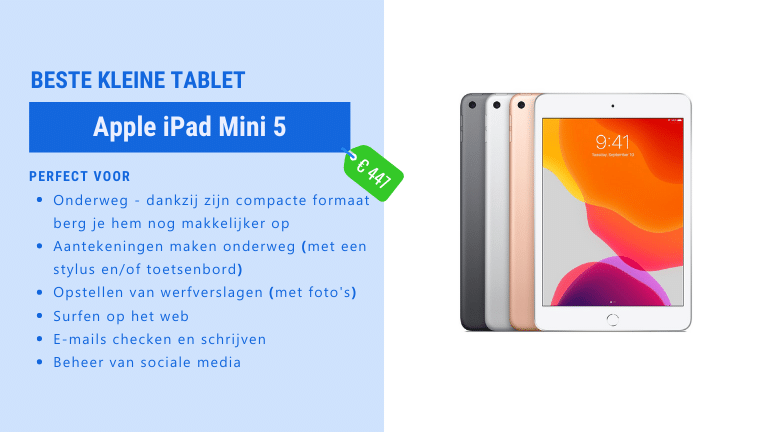 beste mini tablet voor de bouw - iPad Mini 5