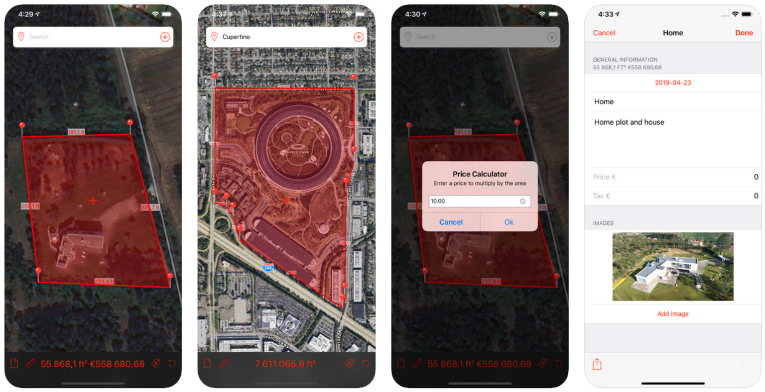 Marea app voor opmetingen van een lot via GoogleMaps ArchiSnapper blog
