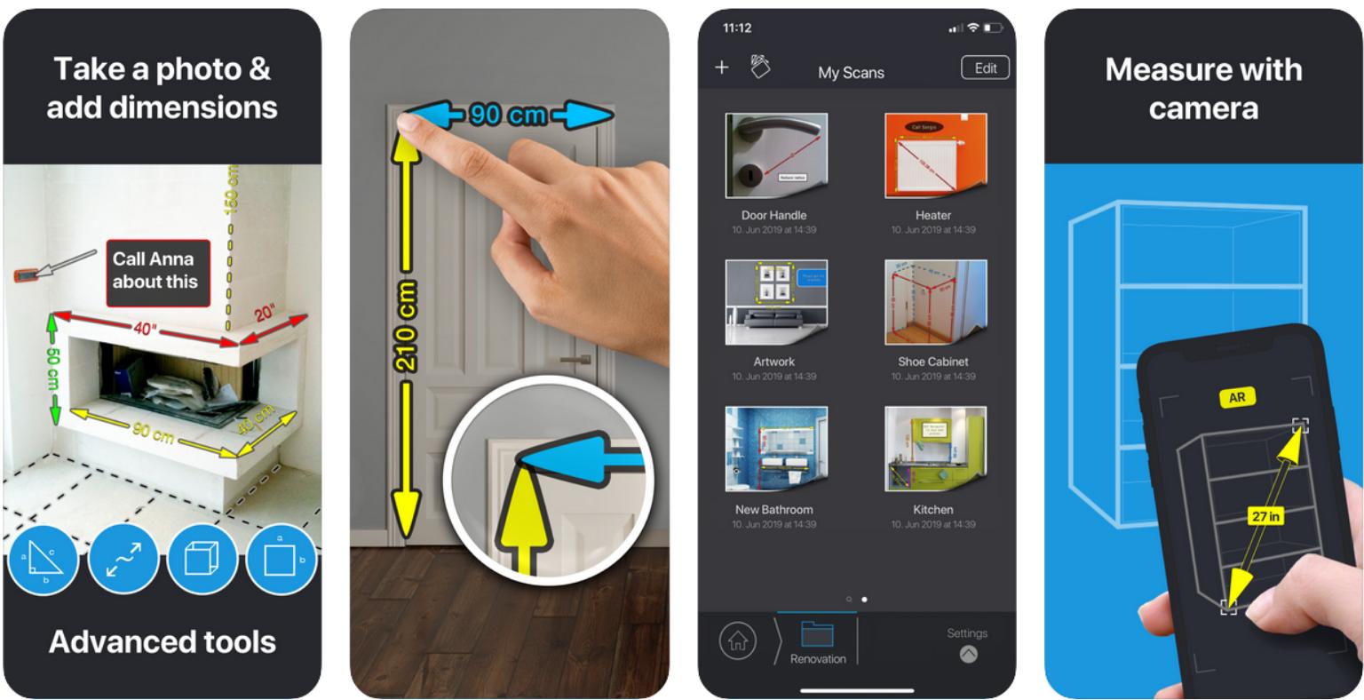 mymeasures app voor makkelijk bijhouden van opmetingen met je smartphone of tablet