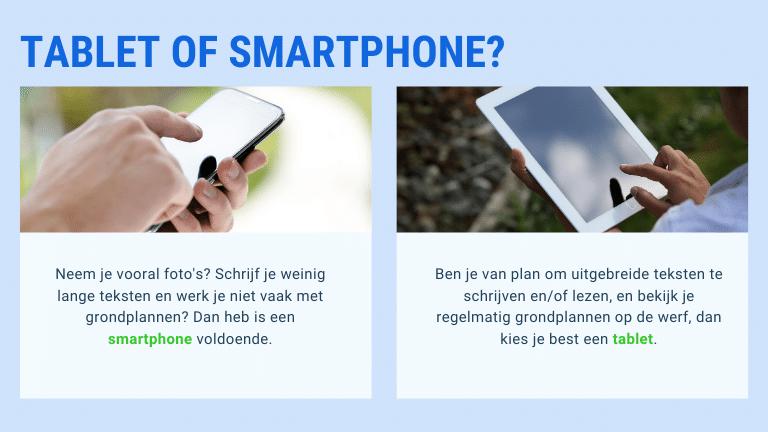 smartphone of tablet kiezen | ArchiSnapper Blog