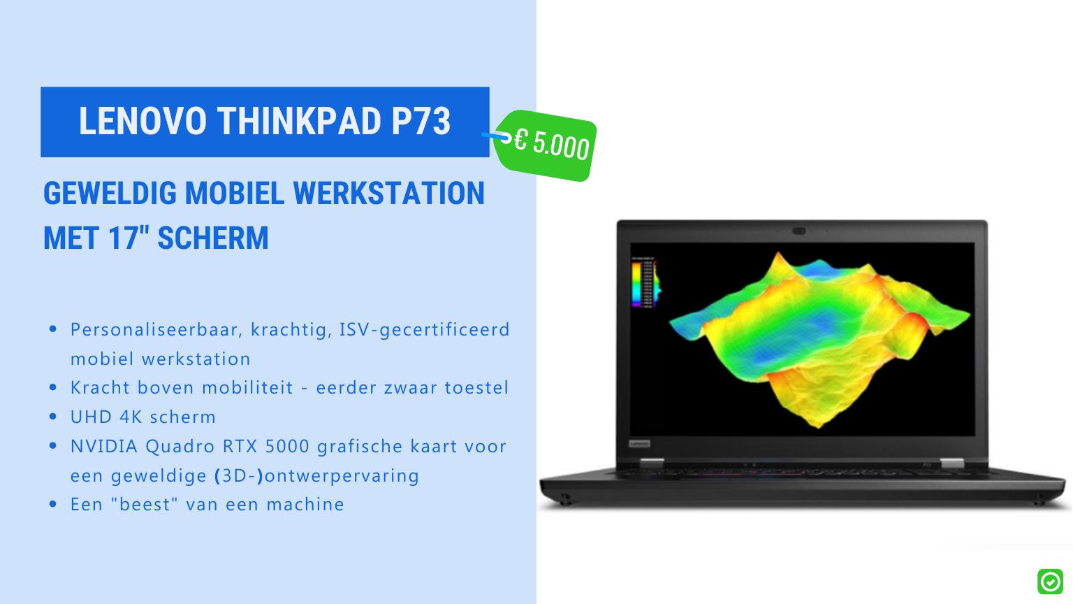 Lenovo thinkpad p73 robuust krachtige laptop voor architect
