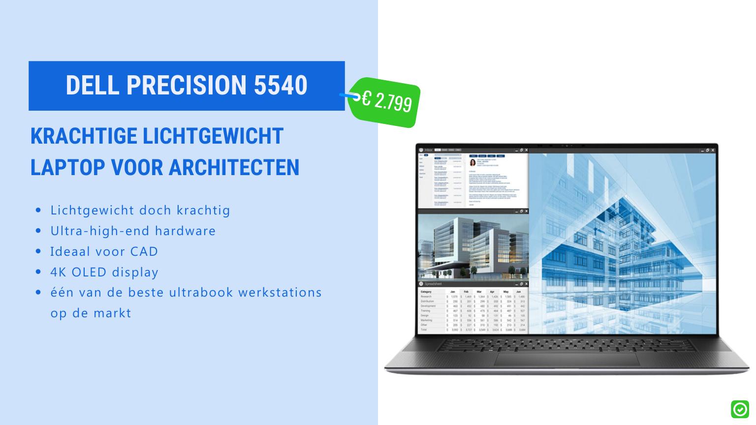dell precision 5540 krachtige lichtegewicht laptop voor architecten