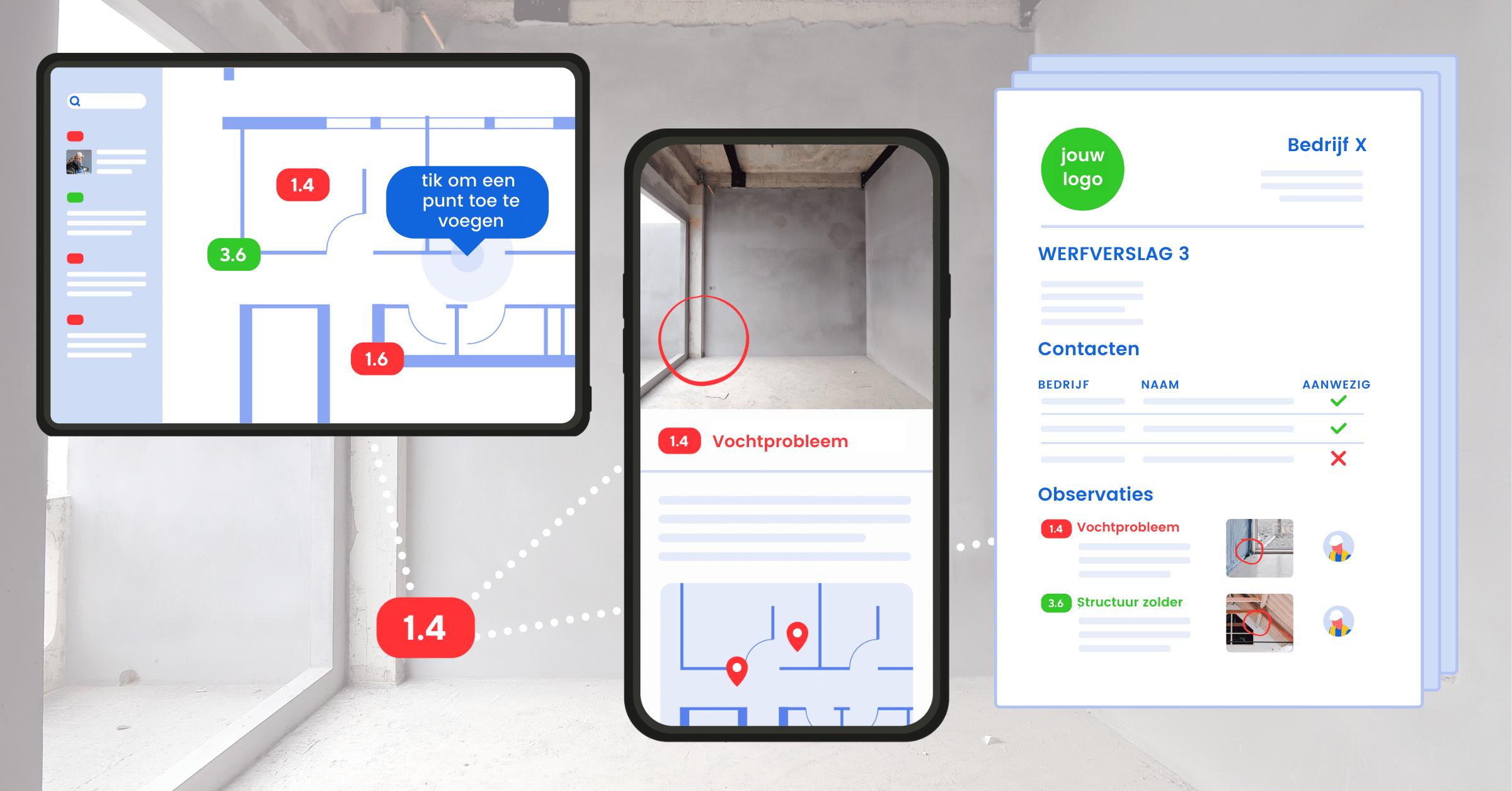 ArchiSnapper app voor werfverslagen
