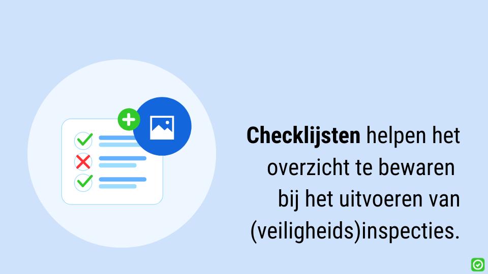 gebruik een checklijst voor veiligheidsinspecties