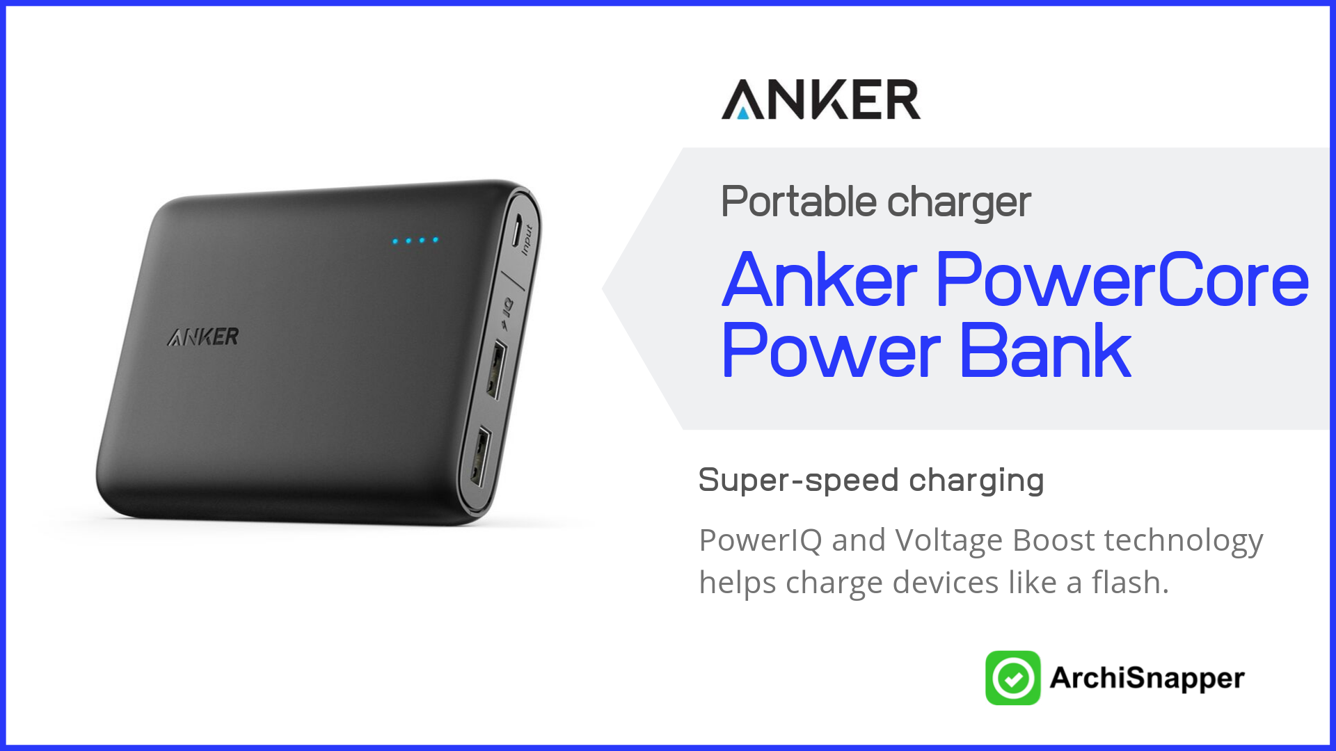 Anker PowerCore 13000mAh Power Bank | Top Tech for Architects Presented by Archisnapper.