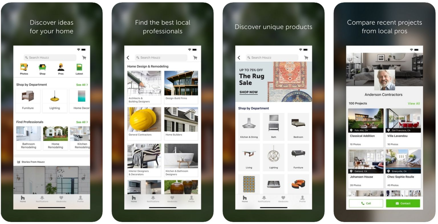 Best apps for Architects - Houzz - screenshot | ArchiSnapper Blog