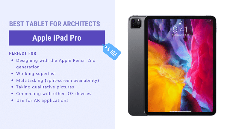best pro tablet for architects apple ipad pro