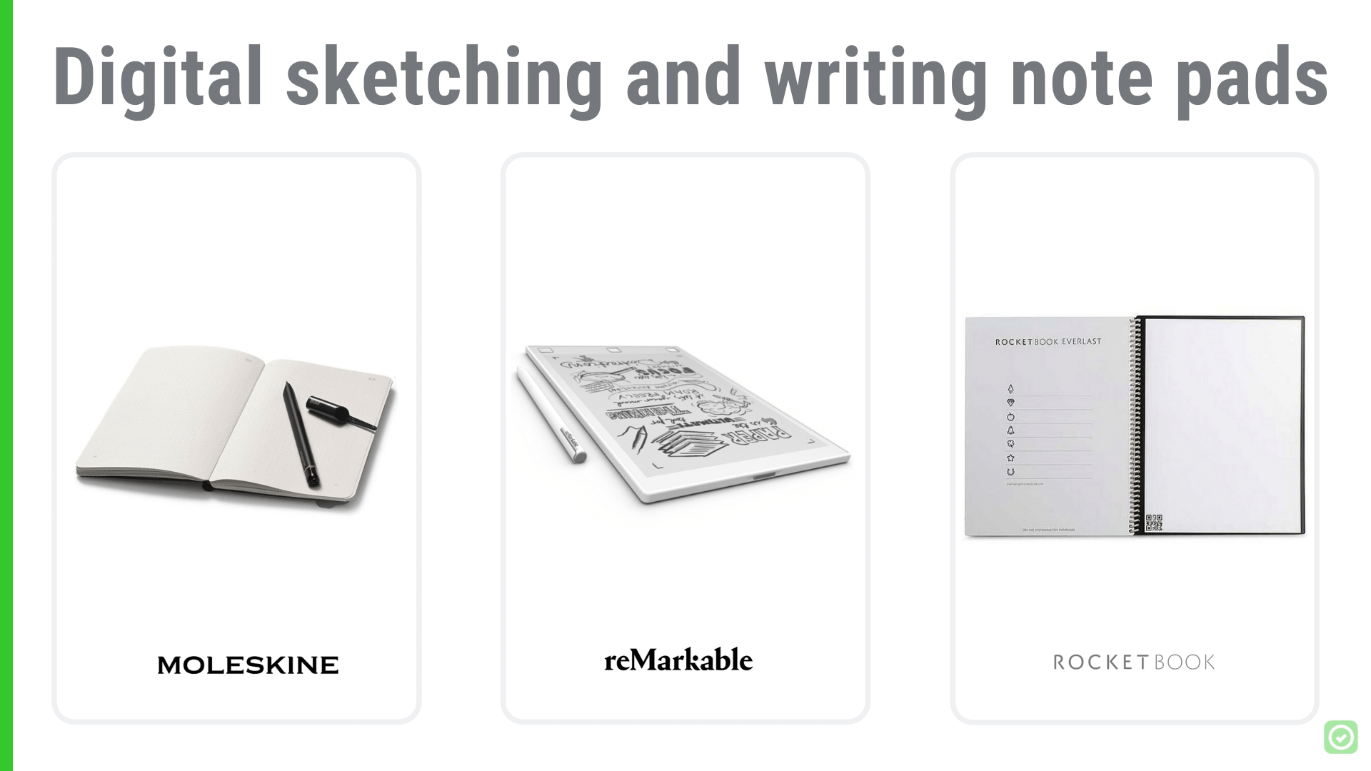 Digital sketching and writing note pads | ArchiSnapper Blog