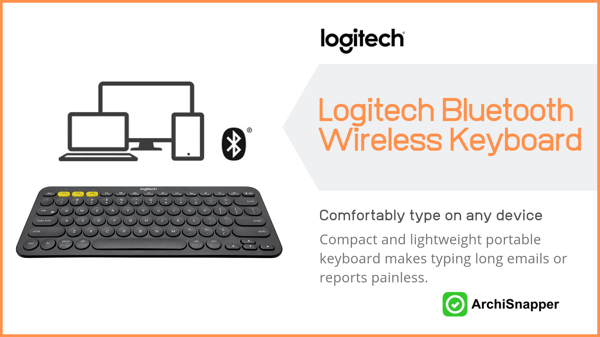 Logitech K380 Bluetooth Wireless Keyboard | Top Tech for Architects Presented by Archisnapper.