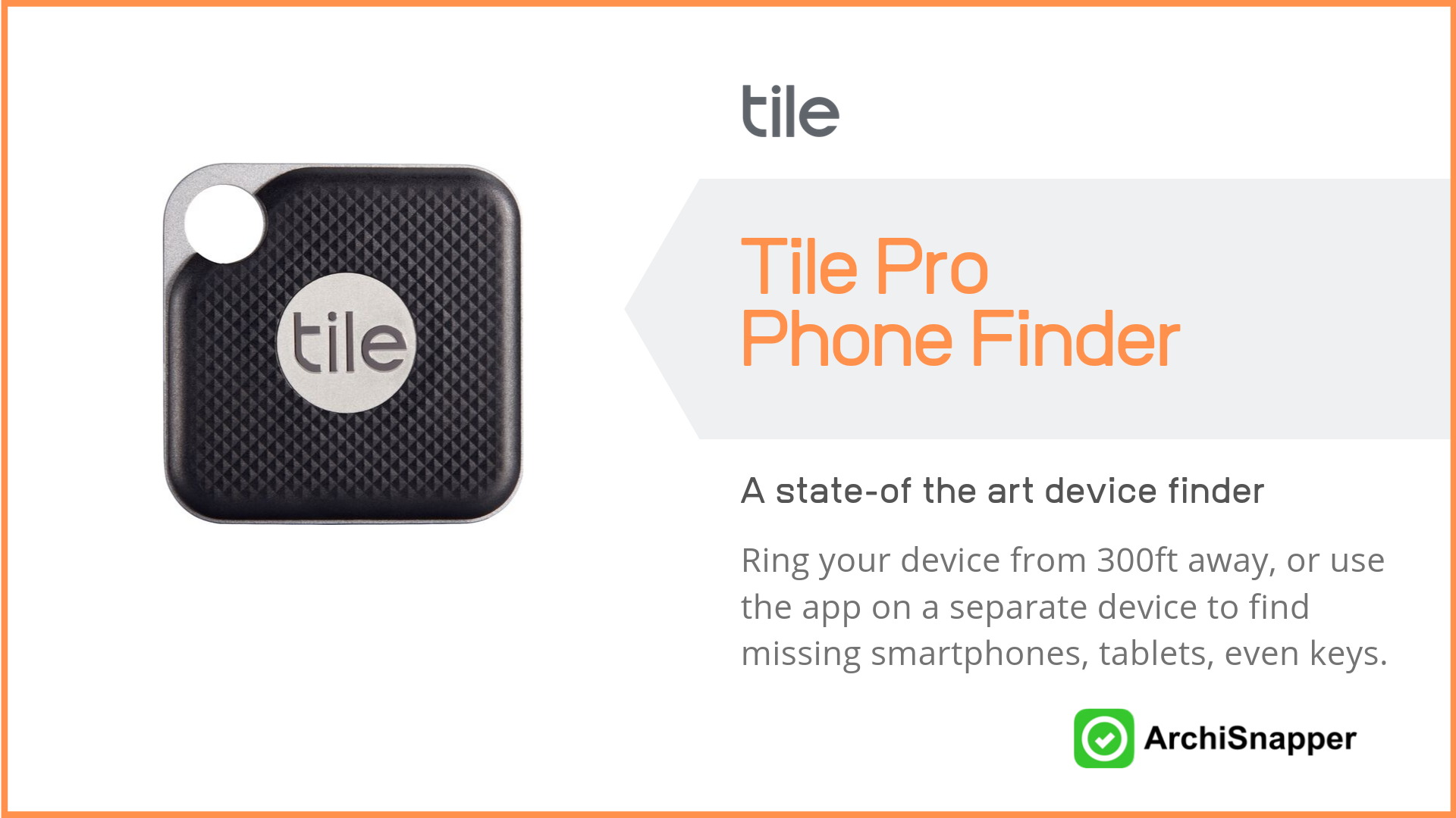 Tile Pro Phone Finder | Top Tech for Architects Presented by Archisnapper.