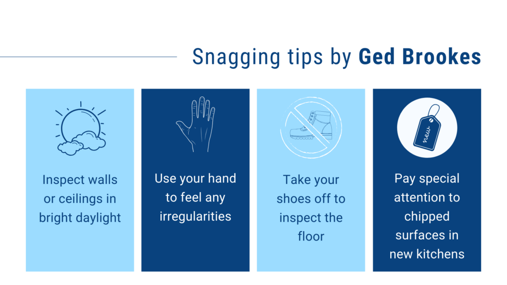 Snagging tips by Ged Brookes | ArchiSnapper Blog