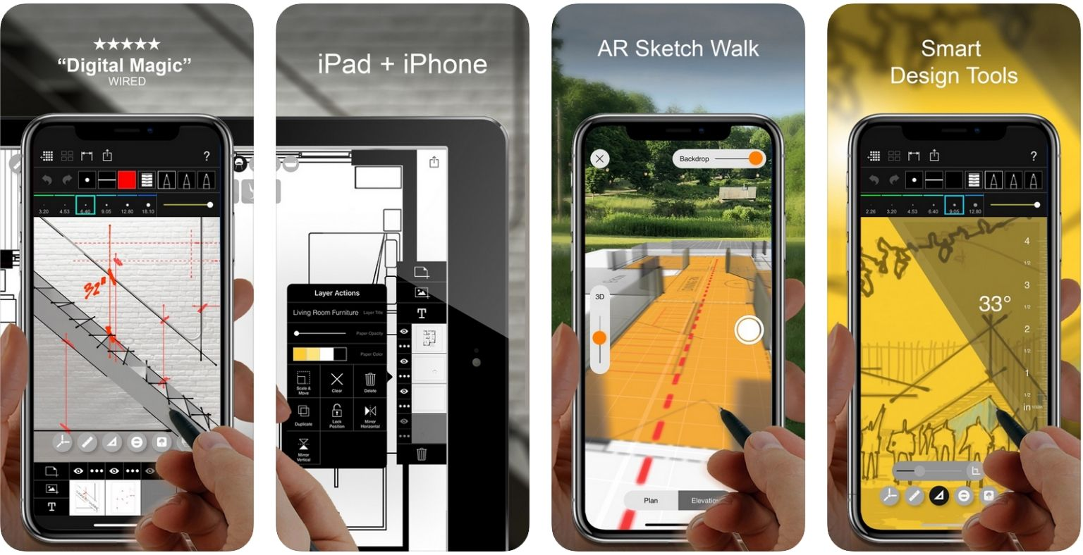 Best apps for Architects - Morpholio Trace - iPhone screenshot | ArchiSnapper Blog