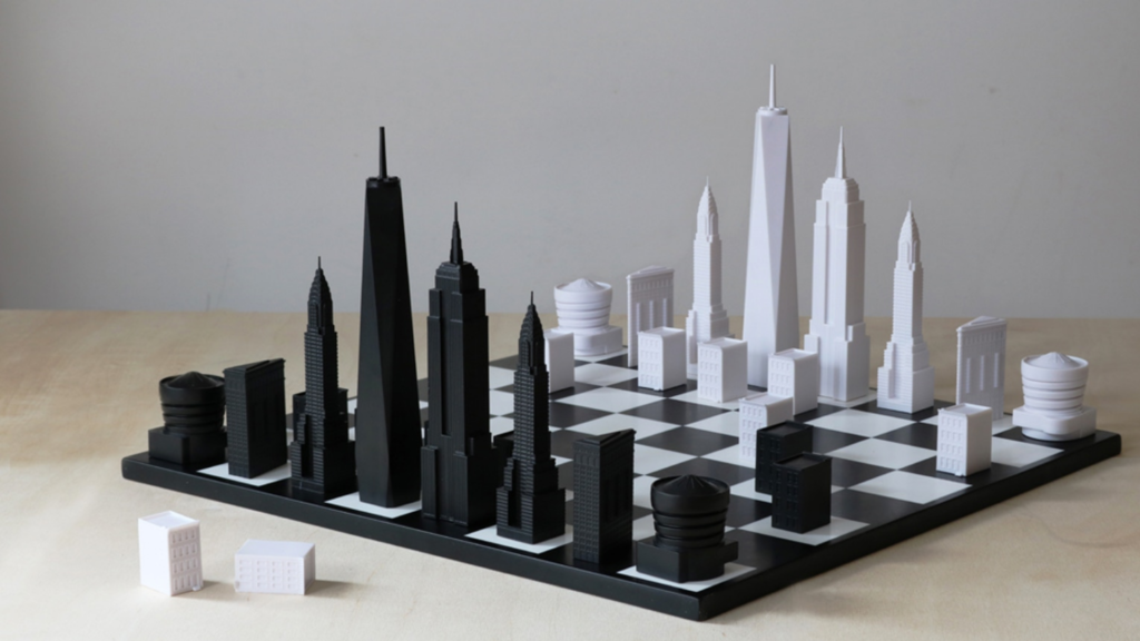Gift for Architect - NY Skyline Chess | ArchiSnapper