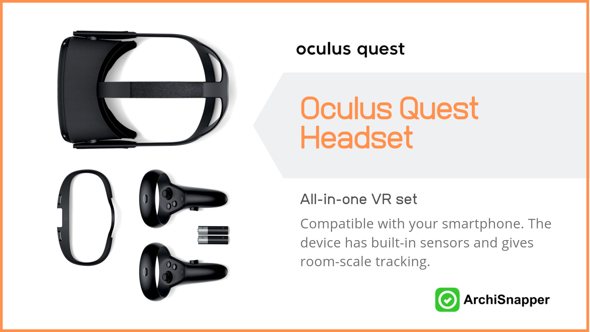 Oculus Quest Headset | List of the 15 must-have tech tools and accessories ideal for architects presented by Archisnapper