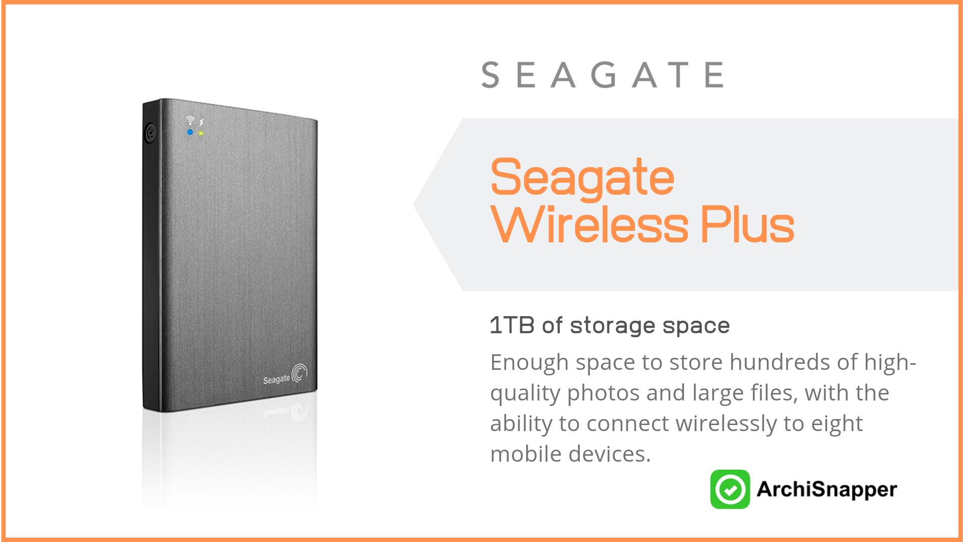 Seagate Wireless | List of the 15 must-have tech tools and accessories ideal for architects presented by Archisnapper