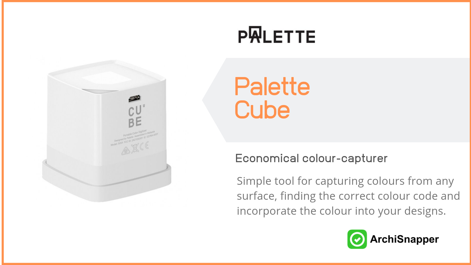 Palette Cube List of the 15 must-have tech tools and accessories ideal for architects presented by Archisnapper