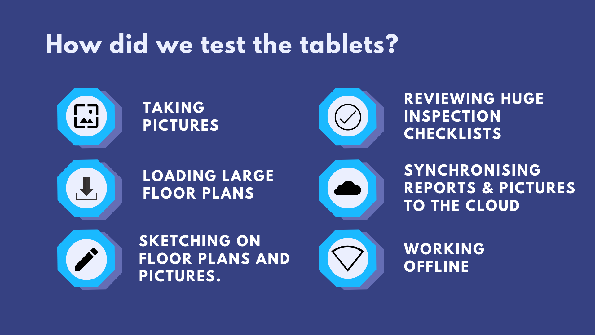 Testing criteria Best tablet for architects and contractors | ArchiSnapper Blog
