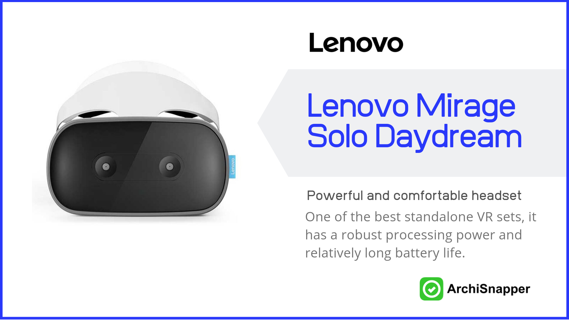 Lenovo Mirage Solo with Daydream | List of the 15 must-have tech tools and accessories ideal for architects presented by Archisnapper