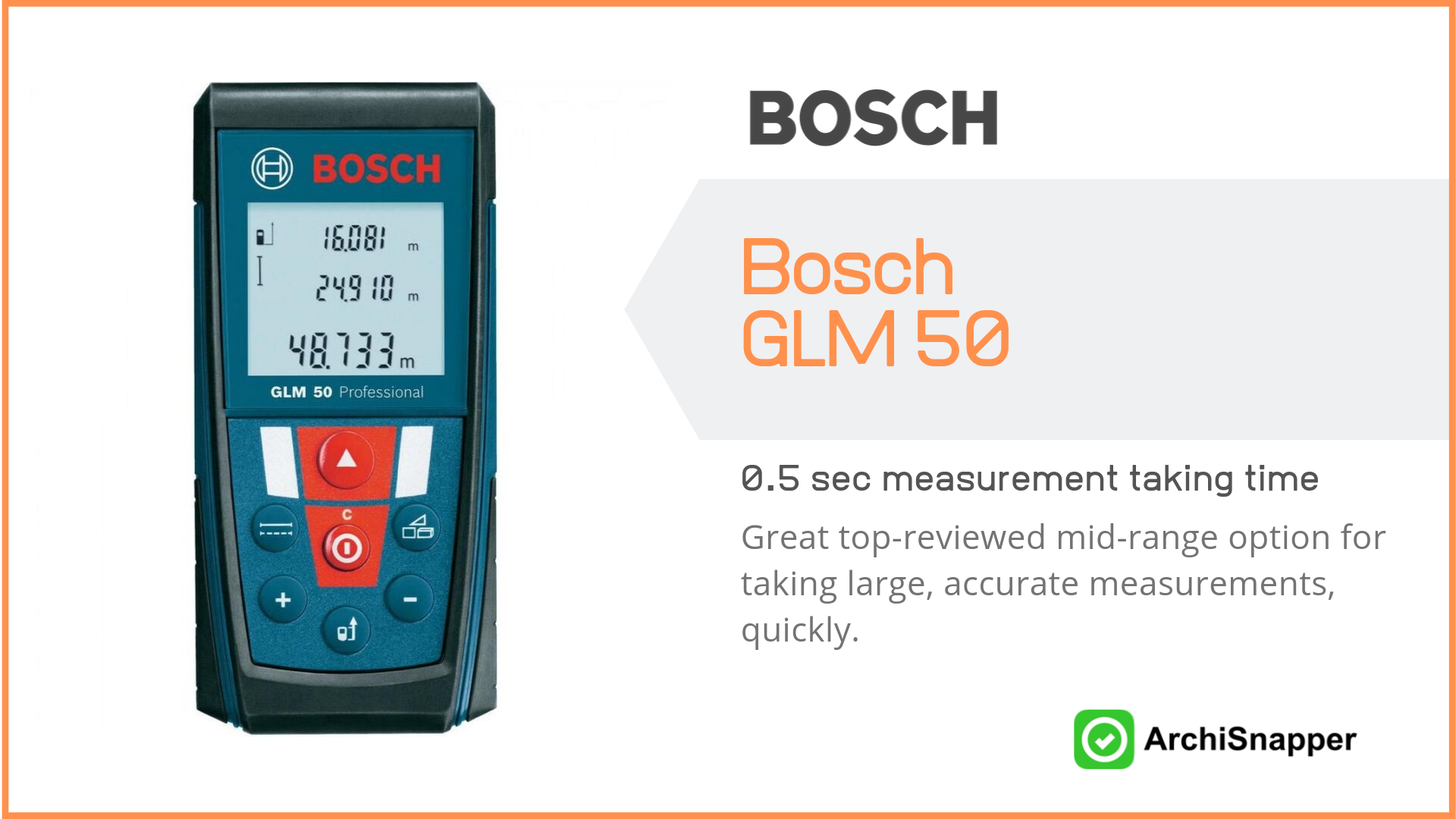 Bosch GLM 50 | List of the 14 must-have tech tools and accessories ideal for architects